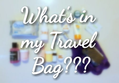 What's in my travel bag??