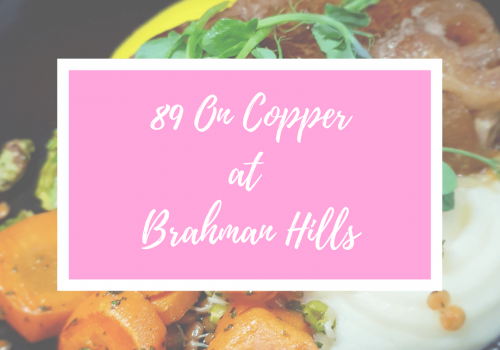89 On Copper – wine cellar restaurant at Brahman Hills