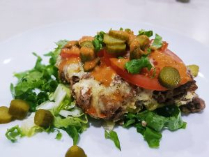 NIBBLES: Low Carb Cheeseburger Casserole, Sugar & Spice
