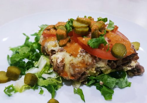 NIBBLES: Low Carb Cheeseburger Casserole