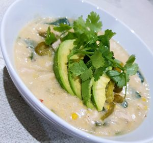 Creamy White Chicken Chili, Sugar & Spice