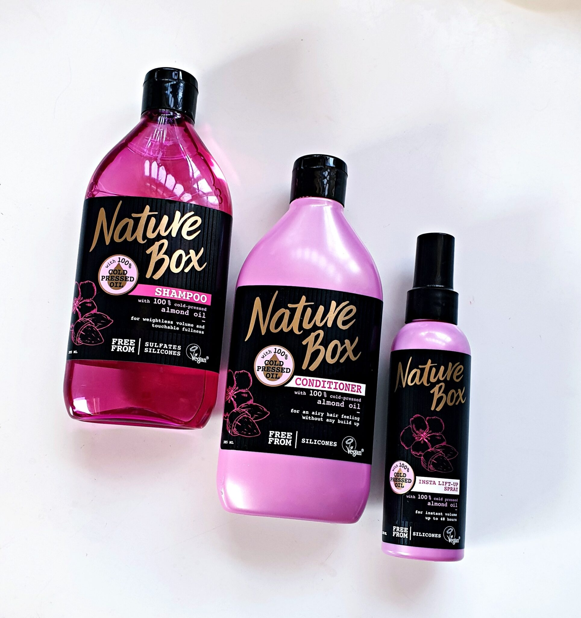 NATURE BOX ALMOND HAIR RANGE