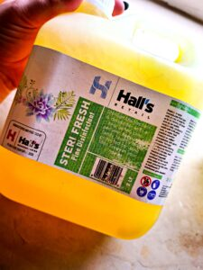 Powerful Cleaning with Hall's Retail, Sugar & Spice